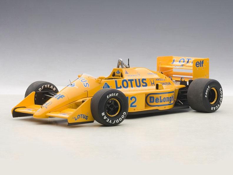 AUTOart Lotus 99T F1 Monaco Grand Prix Winner 1987 Senna #12 1:18 88727